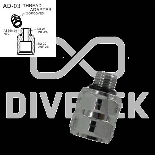 Divetek Thread Adapter (2 Grooves)