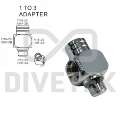 Divetek 1 to 3 Adapter