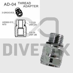 Divetek Thread Adapter (3 Grooves)