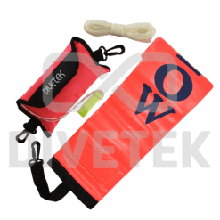 Divetek Deluxe Rescue Sausage with Pouch and String