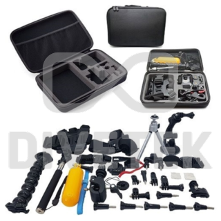 55 Piece Starter Kit for Action Cameras