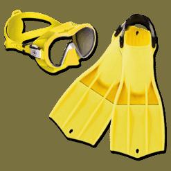 Apeks RK3 Fins + Aqualung Plazma Mask M